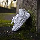 Білі кросівки Adidas Ozweego White з еко-шкіри, фото 9