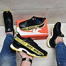 Кожаные стильные мужские кроссовки Nike Off White, фото 2