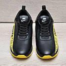 Кожаные стильные мужские кроссовки Nike Off White, фото 5