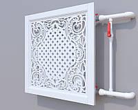 Декоративная решетка на батарею SMARTWOOD | Экран для радиатора | Накладка на батарею 600*600 Короб,