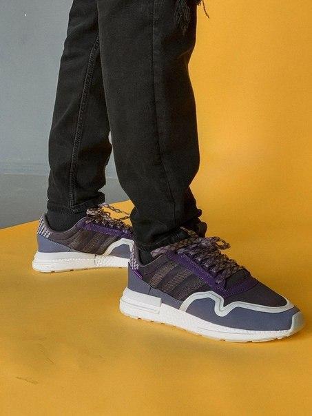 Кроссовки Adidas из замша, кожи и текстиля
