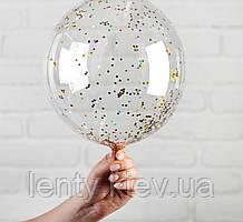 """Воздушный шар с гелием и конфетти (Чешуйки) 12"""" (30 см.) (поштучно) на Оболони (Выбор цвета)"""