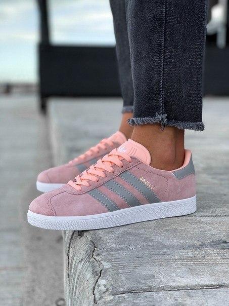 Замшевые женские кроссовки Adidas Gazelle