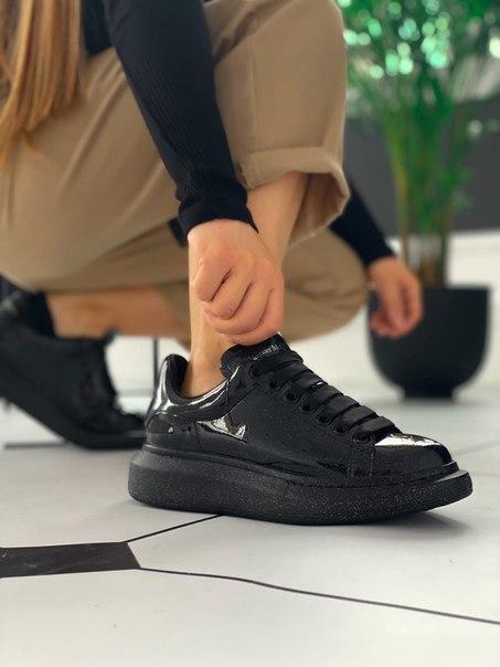 """Лакові жіночі кросівки Alexander McQueen """"Galaxy"""" Топ якість"""