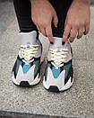 Кросівки жіночі Adidas Yeezy 700 з замша і текстилю, фото 5