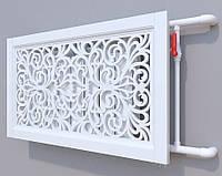Декоративная решетка на батарею SMARTWOOD | Экран для радиатора | Накладка на батарею 600*600 Короб, Покраска