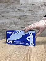 """Перчатки одноразовые TPE (Thermoplastic elastomer) MediOk - 200 шт. в упаковке. Размер: """"L"""""""
