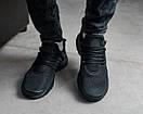 Чоловічі чорні кросівки з сітки, фото 4