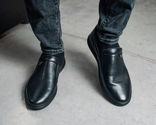 Кожаные мужские туфли демисезонные