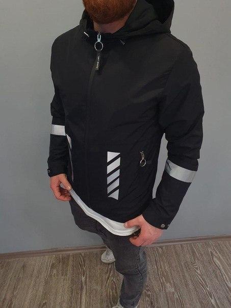 Чоловіча стильна весняна куртка-бомбер