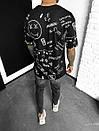 Чоловіча модна футболка розміри ОВЕРСАЙЗ (4 кольори), фото 2