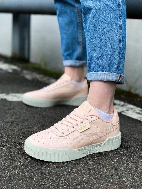 Жіночі модні кросівки PUMA Cali Beige зі шкіри