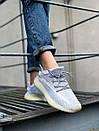 Текстильные женские кроссовки Adidas Yeezy Boost 350 V2 Silver Static, фото 7