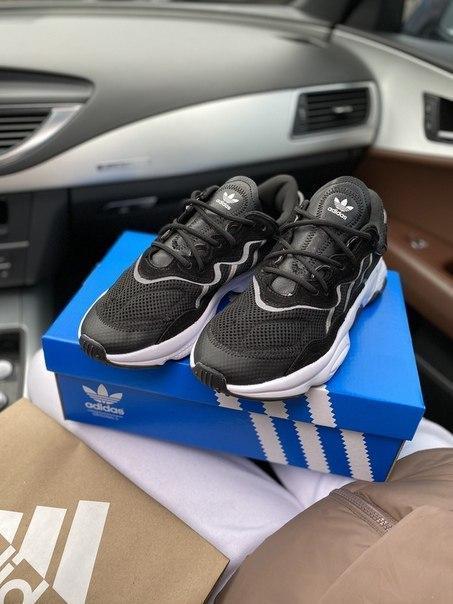 Мужские текстильные кроссовки Adidas, черные