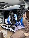 Мужские текстильные кроссовки Adidas, черные, фото 5
