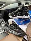 Мужские текстильные кроссовки Adidas, черные, фото 7