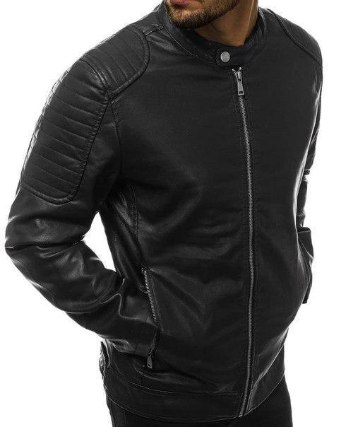 Чоловіча модна шкіряна куртка