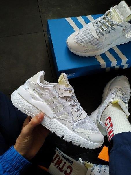 Мужские кроссовки Adidas с рефлективными вставками Топ качество