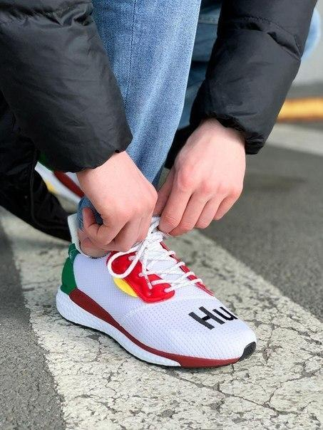 Мужские белые кроссовки Adidas Solar HU Glide ST White