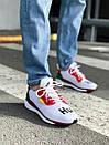 Чоловічі білі кросівки Adidas Solar HU Glide ST White, фото 4