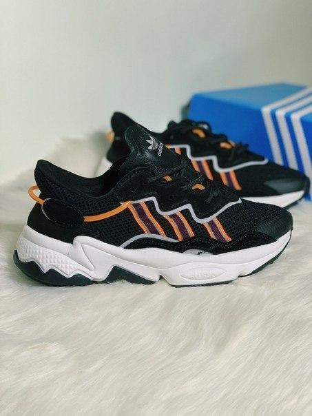 Черные женские кроссовки Adidas Ozweego Топ качество