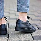 Мужские кожаные черные кеды АХ, фото 2