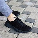 """Чоловічі чорні замшеві кросівки """"Стріт"""", фото 2"""