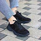 """Чоловічі чорні замшеві кросівки """"Стріт"""", фото 3"""