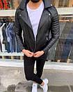 Мужская модная куртка-кожанка, фото 2
