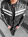 Мужская стильная кожаная куртка до +15, фото 2