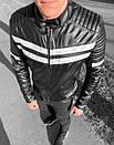 Мужская стильная кожаная куртка до +15, фото 3