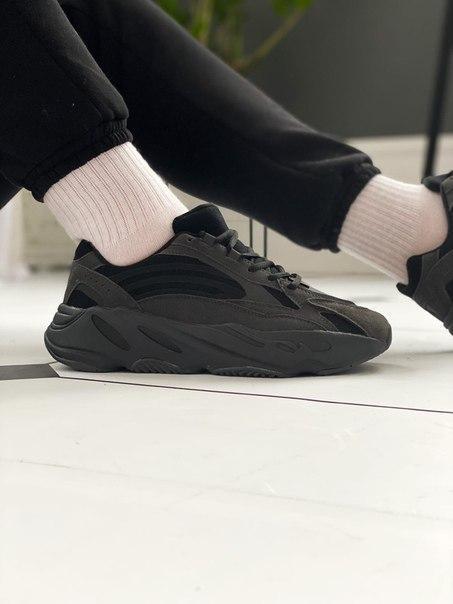 """Мужские черные кроссовки Adidas Yeezy Boost 700 V2 """"Vanta"""" Топ качество"""