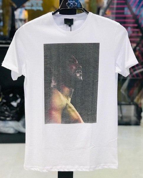 Мужская модная белая футболка, Турция