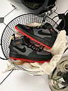 Чоловічі кросівки Nike Air Force 1 Men High Perf на червоній подметке, фото 6