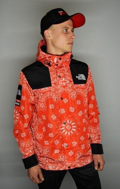 Мужская куртка Supreme x The North Face bandana, три цвета