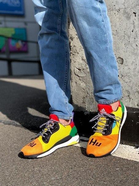 Мужские кроссовки Adidas Solar Hu Glide ST  Multicolor
