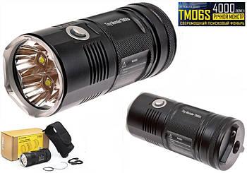 Сверхмощный поисковый фонарь Nitecore TM06S (4000 люмен, Cree XM-L2 U3*4 led, IPX8) Tiny Monster
