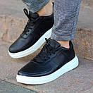 Мужские стильные кожаные кеды, два цвета, фото 2