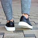 Мужские стильные кожаные кеды, два цвета, фото 4