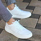 Мужские стильные кожаные кеды, два цвета, фото 8