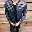 Стильная мужская куртка из эко-кожи, фото 4