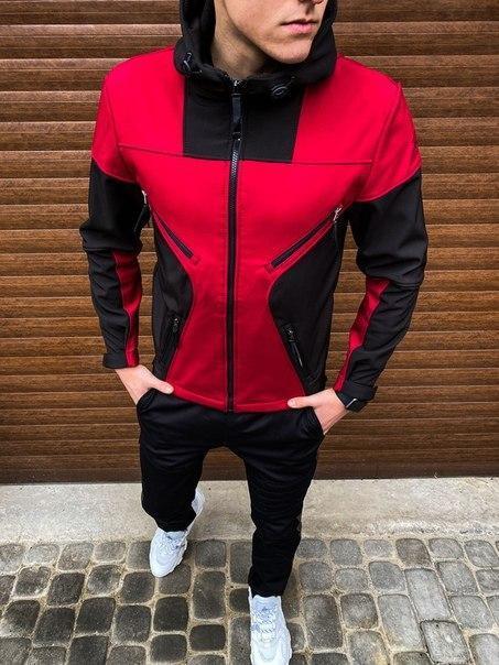 "Чоловіча приталені куртка Pobedov Soft Shell Jacket ""Aura"", три моделі"