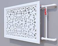 Декоративная решетка на батарею SMARTWOOD   Экран для радиатора   Накладка на батарею Решетка с крышкой, Без