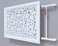 Декоративная решетка на батарею SMARTWOOD | Экран для радиатора | Накладка на батарею Решетка, Без отделки,
