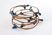 Декоративная веточка с тычинками темно - синего цвета , фото 1