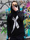 Черное мужское худи высочайшее качество (с маской), фото 2