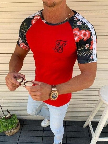 """Чоловіча стильна футболка """"Sik Silk"""", Туреччина (3 кольори)"""