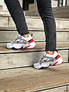 Женские кожаные кроссовки Nike на толстой подошве, фото 9