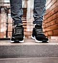 Мужские черные кроссовки Adidas, рефлективные вставки, фото 3