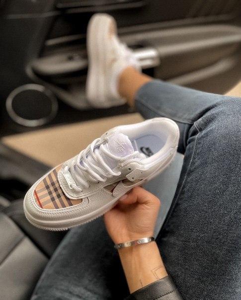 Жіночі шкіряні кросівки Nike Air Force 1 White camo